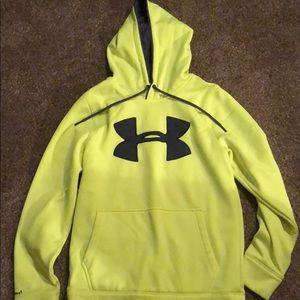 Under Armour hoodie size adult small Bright yellow